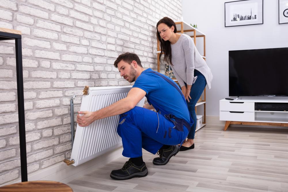 radiator ophangen